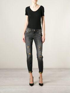 Versus Distressed Skinny Jeans - Jean Pierre Bua - Farfetch.com