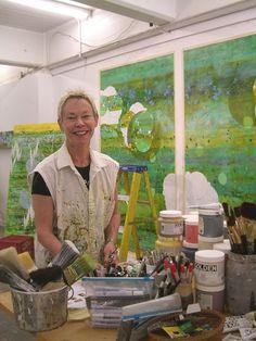 Betsy Stewart in her studio.