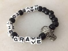 Excited to share this item from my shop: Kandi Bracelet, Rave to the Grave Skull Kandi Single Rave Bracelets, Pony Bead Bracelets, Festival Bracelets, Pony Beads, Diy Friendship Bracelets Patterns, Handmade Bracelets, Rave Accessories, Rave Gear, Kandi Patterns