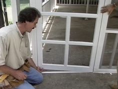 DIY Patio to screened porch. Includes hanging the screen doors ~ @Ariel Wise What do you think?