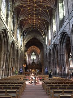 Lauras Beau, designers and manufacturers of exclusive William Morris Prints for Kitchenware, Tableware and Cushions. Chester Cathedral, Street View