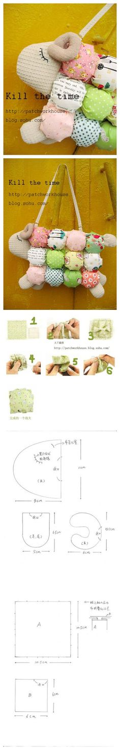 Puffs the sheep baa handbag Easy Tutorial drawings