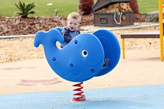 Who doesn't love a friendly whale! Super cute and SUPER FUN - it's the Whale Spring Rider by #LittleTikes This spring rider will make a huge splash at any playground! Check out www.noahsplay.com for more early childhood play equipment and spring riders!
