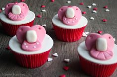 Pacifier Cupcakes - How To