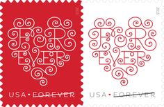 Forever Hearts, Forever® | USPS Stamps.  First Day of Issue  January 22, 2015