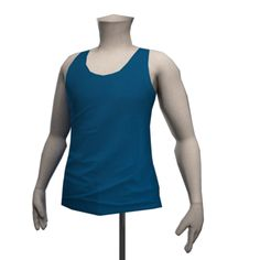 Front Row Vest Top - Marine Blue