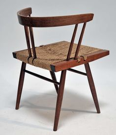Four Grass Seated Chairs, George Nakashima | From a unique collection of antique and modern chairs at http://www.1stdibs.com/furniture/seating/chairs/