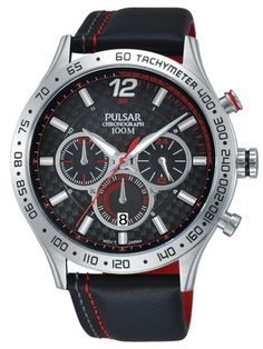 PULSAR SPORTS | PT3691X1 Breitling, Watches For Men, Productivity, Black Leather Bracelet, Stainless Steel, Wristwatches, Top Mens Watches, Gents Watches, Men Watches