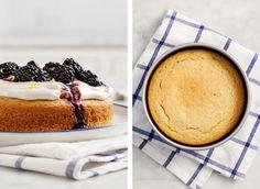 Blackberry Lemon Cake - Vegan lemon cake with sweet coconut cream and juicy…