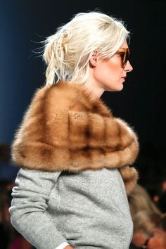 Michael Kors Spring 2014 Ready-to-Wear Collection Fur stole