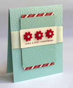 Home for Christmas Cozy button card using the Cozy Christmas Stamp Set from the…