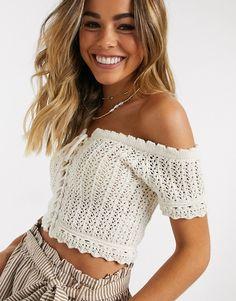 Crochet Top Outfit, Crochet Crop Top, Crochet Cardigan, Crochet Bikini, Crochet Cord, Filet Crochet, Crochet Stitch, Crochet Skirts, Crochet Clothes