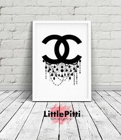 Chanel logo, chanel decor, chanel wall art, Chanel Chandelier, chanel art print, chanel logo art, girls room decor, chanel fashion art by LittlePitti on Etsy https://www.etsy.com/listing/397964163/chanel-logo-chanel-decor-chanel-wall-art