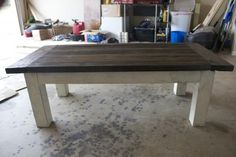 Ana White: Tryde coffee table {distressed farmhouse version}...would be great for the playroom