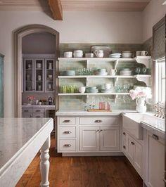 #Kitchen goals. Stylist @bkbroten  John Granen #mycountryhome #countrykitchen #countryfrench #openshelving #oldhouselove