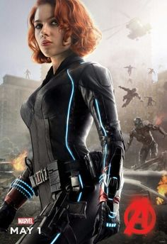 Scarlett Johansson is Agent Natasha Romanoff aka Black Widow in Avengers: Age of Ultron, 2015