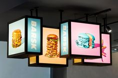 Barsk - Metric (en) Retail Signage, Wayfinding Signage, Signage Design, Cafe Design, Box Design, Store Design, Urban Ideas, Garage Furniture, Event Branding