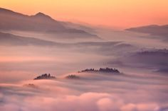 Misty mountains.  Pieniny, Poland.   By: Przemyslaw Kruk