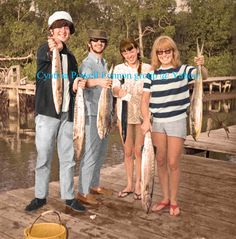 """truthaboutthebeatlesgirls: """"Tobago Holiday January 1966 - John, Ringo, Maureen and Cynthia showing off the fish they caught in Tobago. From the collection of Ringo Starr, published in his book, Photograph. (This version of the full page photo scanned..."""