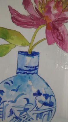 Aquarela.Vaso chines.60,00