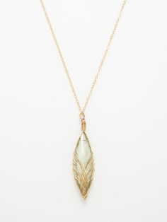 Green Amethyst Marquise Necklace
