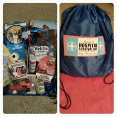 Big Brother Hospital Survival Kit- For Birth Day of new sibling!