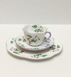 Vintage Shelley Tea Cup and Plate Trio by GracesVintageGarden