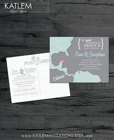 Mexico – Save the Date – Cancun, Puerto Vallarta Destination Wedding – Wedding Save the Dates