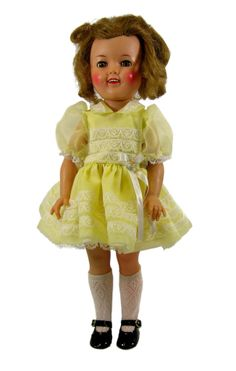 Yellow Party Dress for ST-17 Shirley Temple Dolls