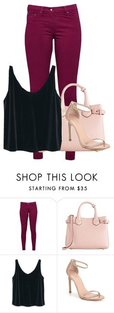 """""""#2"""" by melissagatzia ❤ liked on Polyvore featuring Great Plains, Burberry, MANGO and Stuart Weitzman"""