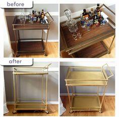 Sharing my gold bar cart! via Otter & Wolf: I Painted the Target Bar Cart