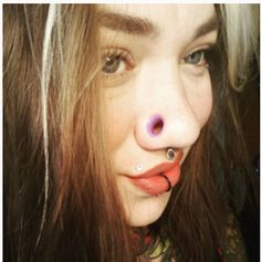 Cute Nose Piercings, Unique Body Piercings, Facial Piercings, Unusual Jewelry, Labret, Body Modifications, Body Mods, Beautiful Tattoos, Beauty Women