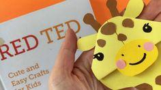 Easy Giraffe Bookmark Corner - celebrating April the Giraffe's new baby, make your own DIY Giraffe Corner Bookmark. Darling!