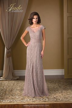 Vintage lace gown by Jade Couture #fashion #BurlOn mirellas.ca