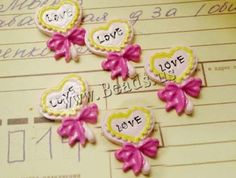 Fridge Magnets, Resin, Heart, with magnetic & with letter pattern & enamel