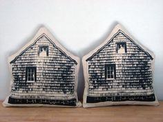 Little Barn Throw Pillow by printmakerkym on Etsy, $45.00