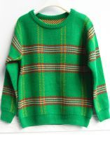 Green Long Sleeve Plaid Pullover Sweater...I want this naow!