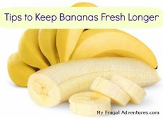 Jack is addicted. We go through so many bananas it's ridiculous! Several easy tips to keep bananas fresh!