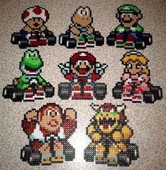 Mario Kart Bead Sprites by squirrelsong, via Flickr
