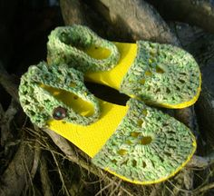 manalua: Sandálias crochet