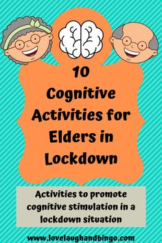 Activities for cognitive stimulation during lockdown at nursing homes or assisted living homes. games, activities and Assisted Living Activities, Group Therapy Activities, Nursing Home Activities, Cognitive Activities, Nursing Home Crafts, Physical Activities, Games For Elderly, Elderly Activities, Enrichment Activities