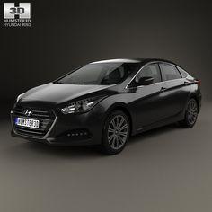 Hyundai i40 sedan 2015 3d model from humster3d.com