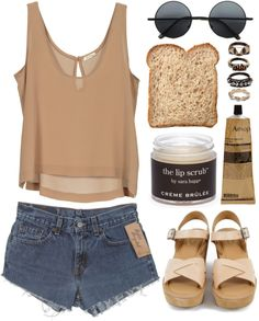 """DAY WEAR - TANNED."" by pretty-basic ❤ liked on Polyvore"