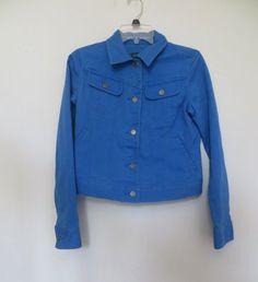 LRL Lauren Jeans Co Ralph LaurenWomen's Small Blue Jean Jacket #LaurenRalphLauren #JeanJacket