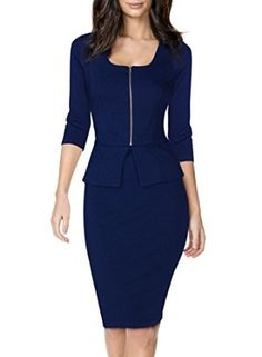 http://amzn.to/29ni1Vd Miusol Women's Square Neck Busniess Peplum Fitted Casual Bodycon Dress.  Sale:	$28.99 & FREE Returns on some sizes and colors. Detailshttp://amzn.to/29ffUQf