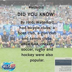Our #WLR1916 feature today explores sporting clubs and organisations that were popular in Waterford 100 years ago! #Waterford #1916 #sport
