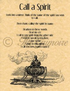 Call-a-Spirit-Spell-Book-of-Shadows-Page-BOS-Pages-Summoning-Spells-Wicca Prudent en parlent des esprits. Careful when talking with spirits. Witchcraft Spell Books, Wiccan Spell Book, Wiccan Witch, Magick Spells, Wicca Witchcraft, Voodoo Spells, Wiccan Spells Money, Demon Spells, Wicca Love Spell