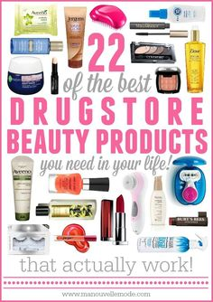 Beauty products can be expensive but they don't always need to be! Here are 22 drugstore beauty products that aren't too expensive and really work!