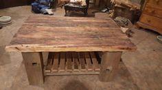 Old Douglas fir table