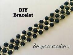 Miyuki boncuk ve küp kristalli peyote yüzük yapımı-Making cube crystal peyote ring with miyuki beads - YouTube